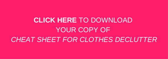 Clothes declutter - wardrobe declutter - Kat Bern: interior design with soul. Change your home to change your life.